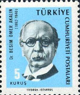 ilginc - Besim Ömer Akalın pulu - Titanik Kazasından Kurtulan Türk - Besim Ömer Akalın