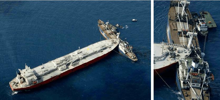 goss-gasm - Figure 1 Ship collision of Gas Roman and Springok near Singapore coast occurred in 2003 - Gemi Çatışması ve Sonrası