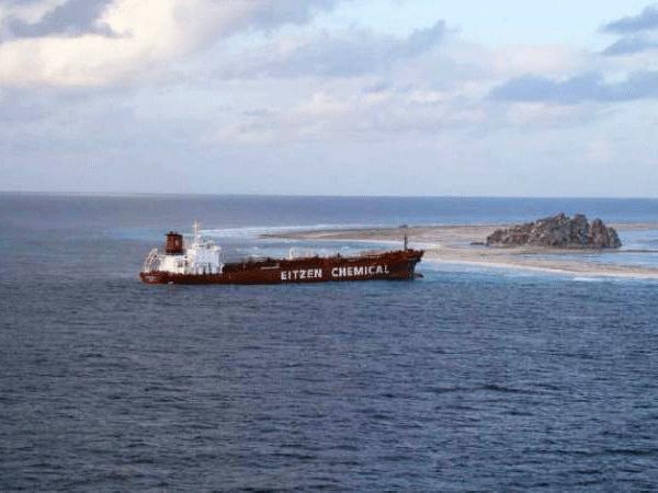 goss-gasm - ada gemi karaya oturma - Gemi Çatışması ve Sonrası