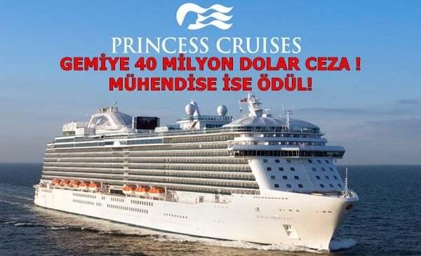 ilginc - 40milyon ceza - Yolcu Gemisine Rekor Ceza - Makine Mühendisine Ödül