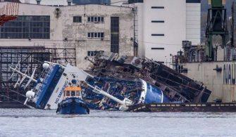 Norveçte Gemi kazası