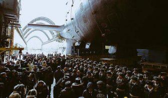 sektorel, haberler - rus da 335x195 - Rusya Yeni Nükleer Denizaltısını Suya İndirdi