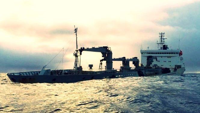 Gemi yarı batık şekilde