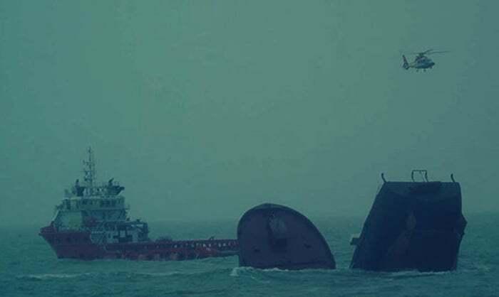 haberler, gundem - Kurtarma operasyonu çin - Batmakta Olan Gemiden 5 Personel Kurtarıldı