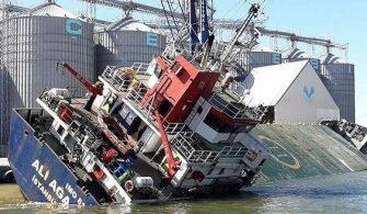 M/V Ali Ağa Gemisi Bandırma Limanında Devrildi | Yaralılar Var