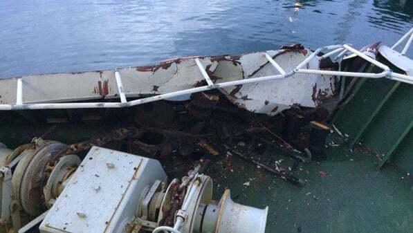 haberler, gundem - gemi kazası - Marmara'da Feribot ile Yük Gemisi Çatıştı!