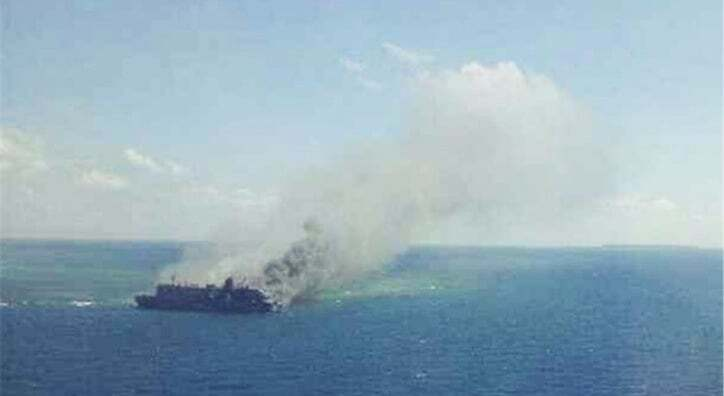 haberler, gundem - gemi yangını endonezya - Feribotta Yangın Çıktı   5 Kişi Hayatını Kaybetti