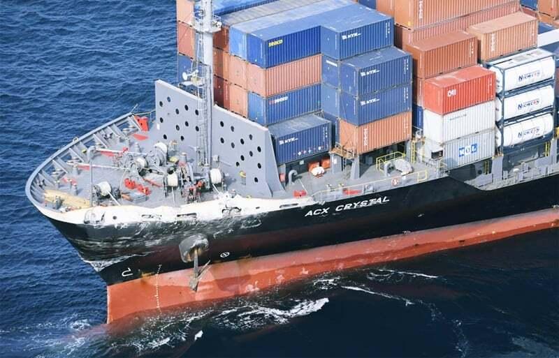 haberler, gundem - MV acx crystal accident - Savaş Gemisi İle Konteyner Gemisi Çarpıştı