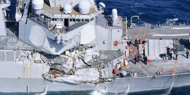 haberler, gundem - USS Fitzgerald accident 1 750x375 - Savaş Gemisi İle Konteyner Gemisi Çarpıştı