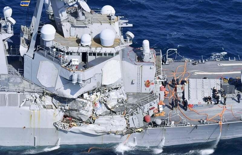 haberler, gundem - USS Fitzgerald accident - Savaş Gemisi İle Konteyner Gemisi Çarpıştı