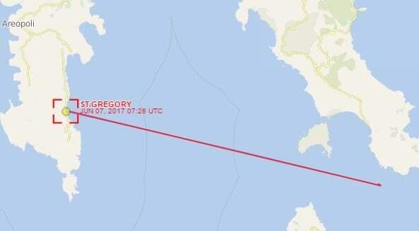 haberler, gundem - gemi karaya oturdu 2 - St. Gregory İsimli Gemi Ege Denizinde Karaya Oturdu