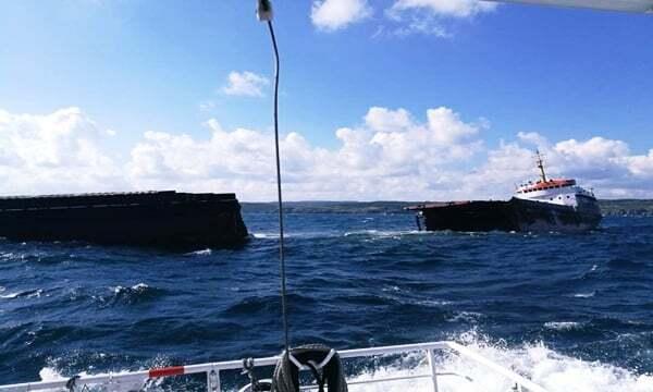 haberler, gundem - stanbul gemi kazası - İstanbulda MV Leonardo İsimli Gemi İkiye Bölündü