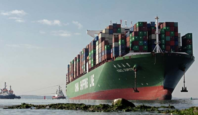 haberler, gundem - MV CSCL JUPITER aground - Tanker ve Kuruyük Gemisi Çatıştı