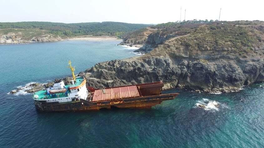 haberler, gundem - MV Leonard kazası - Kilyos Açıklarında Kırılan Gemi Parçalanmaya Başladı