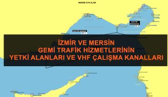 İzmir ve Mersin Gemi Trafik Hizmetlerinin Vhf Çalışma Kanalları ve Alanları
