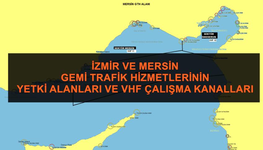 Mersin VTS Çalışma Kanalları Haritası