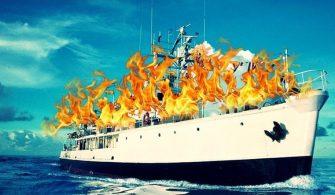 haberler, gundem - RV Calipso1 335x195 - Ünlü Fransız Deniz Araştırmacısı Cousteau'nun Gemisi Yalova Tersanesi'nde Yandı