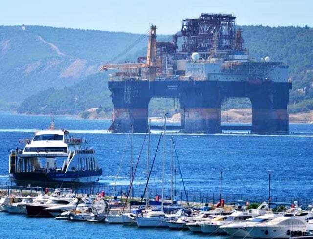 haberler, gundem - Scarabeo 9 Petrol Platformu2 - Dev Platform Çanakkale Boğazında | Boğaz Gemi Trafiğine Kapatıldı