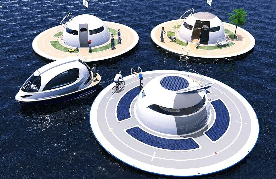 sektorel, haberler - UFOInterior yat5 - Ufo Görünümlü Yüzen Ev Tasarımı