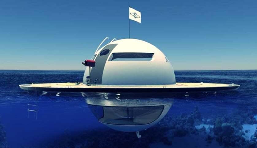 sektorel, haberler - UFOInterior yat7 - Ufo Görünümlü Yüzen Ev Tasarımı