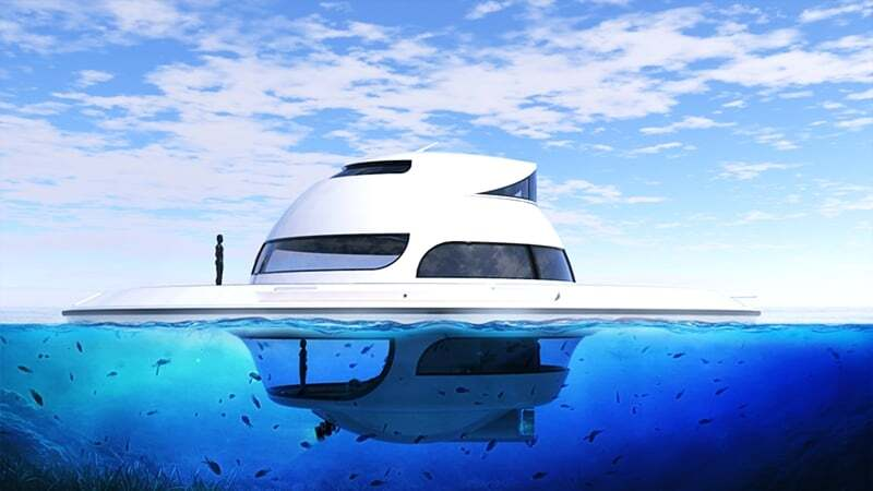sektorel, haberler - UFOInterior yat8 - Ufo Görünümlü Yüzen Ev Tasarımı