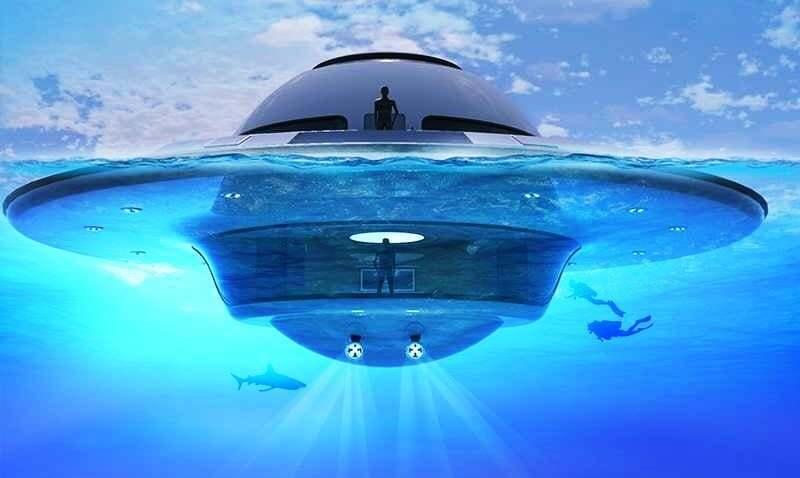 sektorel, haberler - UFOInterior yat9 - Ufo Görünümlü Yüzen Ev Tasarımı
