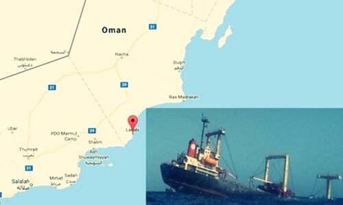 haberler, gundem - Umman Gemi KAzası3 - Umman'da Çelik Malzeme Taşıyan Gemi Battı