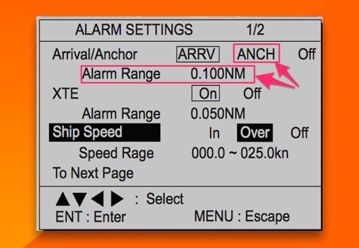 seyir - Anchor alarm setting - Geminizin Demir Taradığını Nasıl Anlarsınız ?