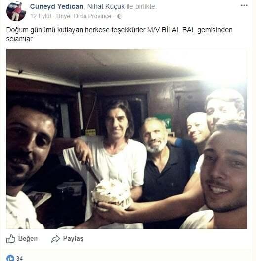haberler, gundem - Cüneyd - Batan M/V Bilal Bal Gemisinin Kaptanı Gemide Değildi!