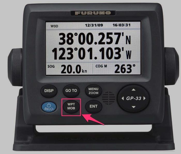 seyir - furuno GPS MOB for anchor let go position - Geminizin Demir Taradığını Nasıl Anlarsınız ?