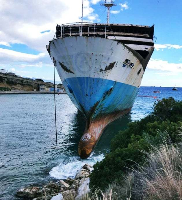 haberler, gundem - MV Makedonia 2 - Personeli Olmayan RO-RO Gemisi Karaya Vurdu