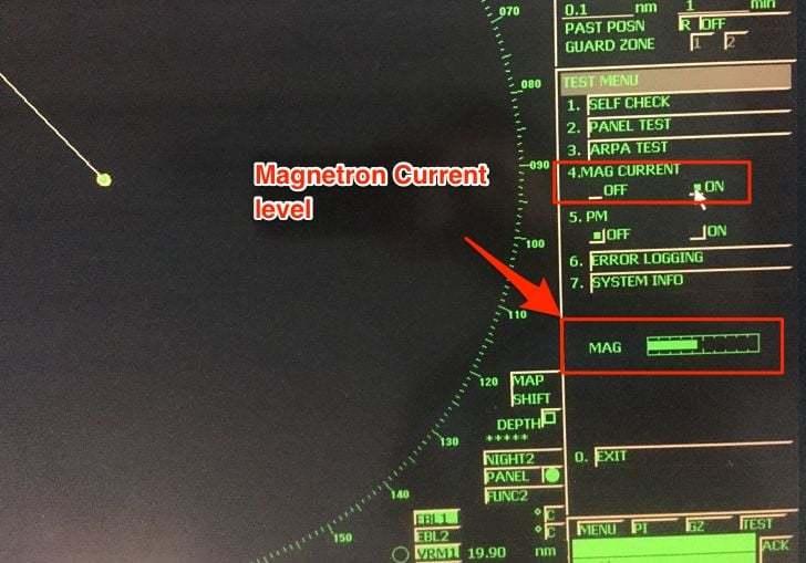 seyir - Magnetron current level - Gemilerde Radar Performans Testleri Nasıl Yapılır?