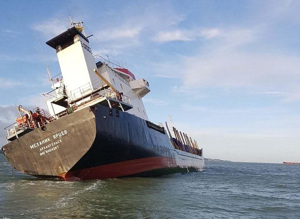 haberler, gundem - Mv Mekhanik Yartsev 2 - Rus Kuruyük Gemisi Tehlikeli Şekilde Yan Yattı