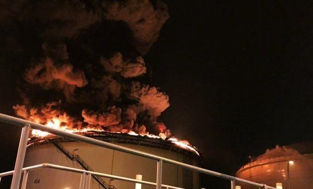 Petrol Rafinerisinde Büyük Yangın