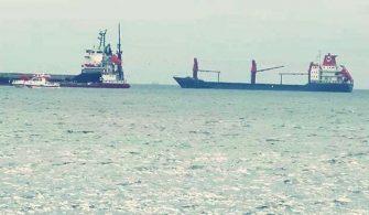 Yenikapı Açıklarında İki Gemi Çatıştı