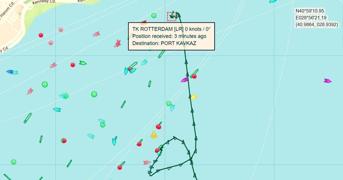 haberler, gundem - TK Rotterdam Track - Yenikapı Açıklarında İki Gemi Çatıştı