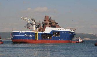 sektorel, haberler - Yalova Cemre Tersanesi 335x195 - Fransız Firması İçin İnşa Edilen Rüzgar Türbini Destek Gemisi Suya İndirildi