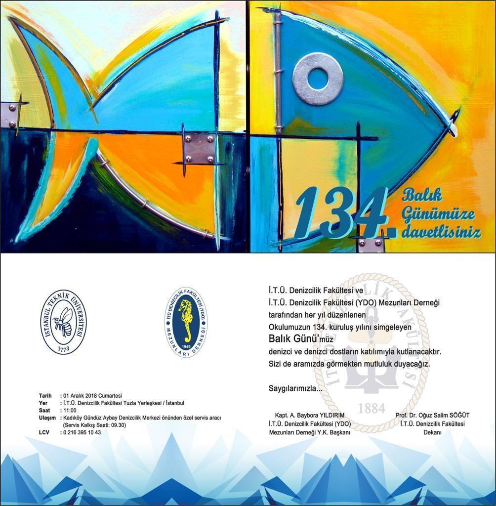 etkinlikler - balık - İ.T.Ü Denizcilik Fakültesi 134. Balık Günü - 1 Aralık 2018