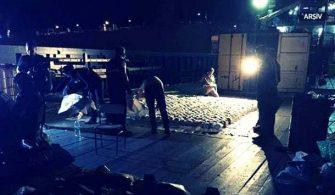 Akdeniz de uyuşturucu dolu gemi