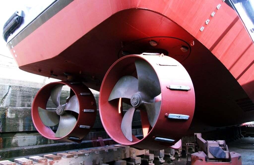 gemi-insaa-ve-stabilite - Azimuth Properler Azmiut pervane sistemi - Gemi Pervane Çeşitleri