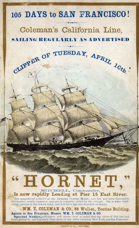 ilginc - Hornet Clipper - Kaptan Josiah A. Mitchell ve Hornet Gemisinde Çıkan Yangın