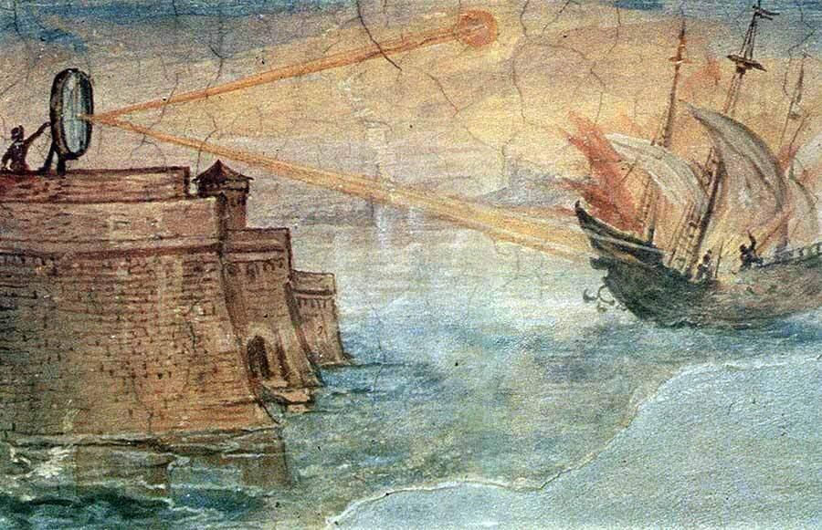 deniz-kultur - arşimet ayna - Arşimet Aynası İle Gemi Yakmak