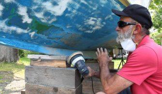 teknelerde raspa ve boya