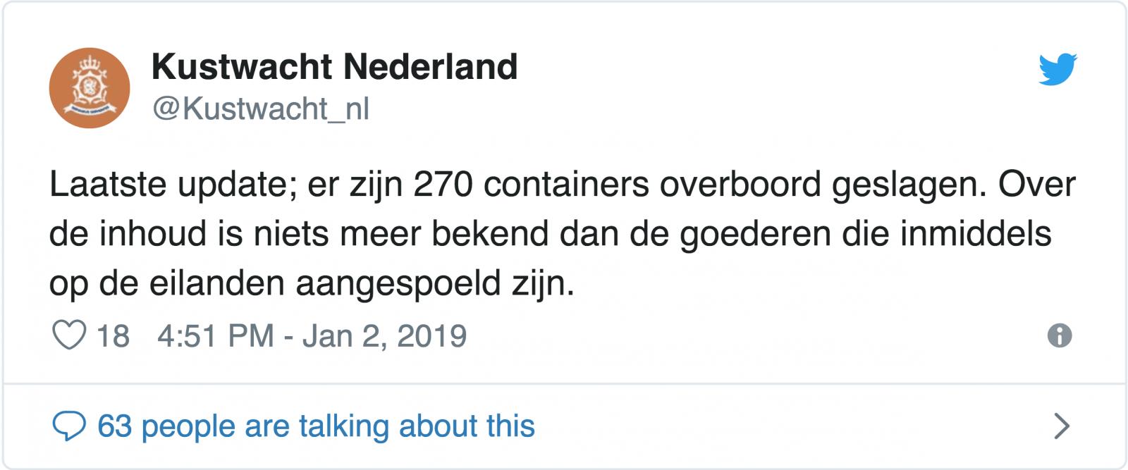 haberler - Ekran Resmi 2019 01 02 19.20.08 - Konteynerler Denize Düştü