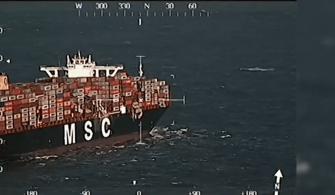 Konteynerlerini Kaybeden Geminin Videosu ve Son Hali