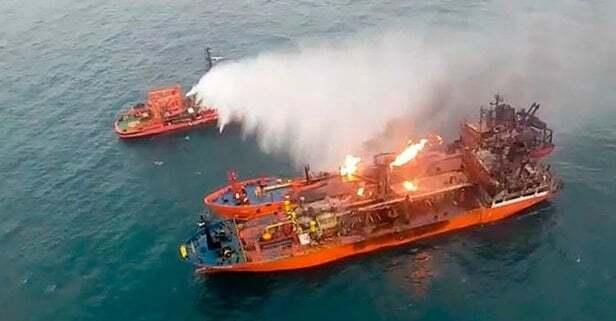 """haberler, gundem - kerç denizi - Kerch'te Yaşanan Kazada Yanan Tankerlerden Biri Olan """"Maestro"""" İstanbul'da Tutuklandı."""