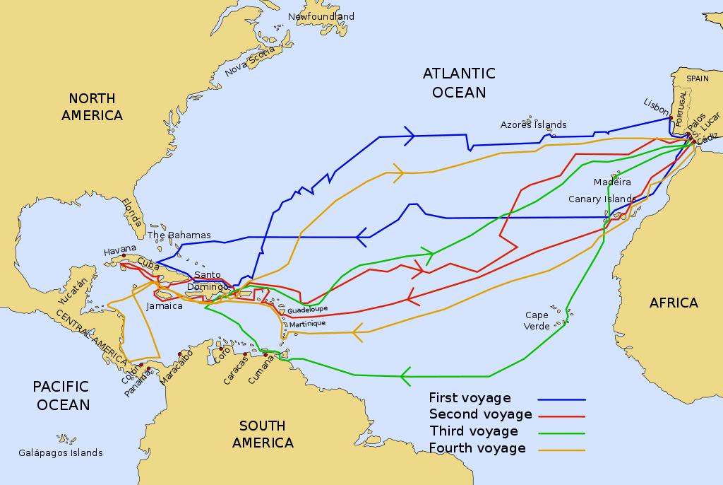 deniz-kultur - kolomb seferleri - Kristof Kolomb Seferleri