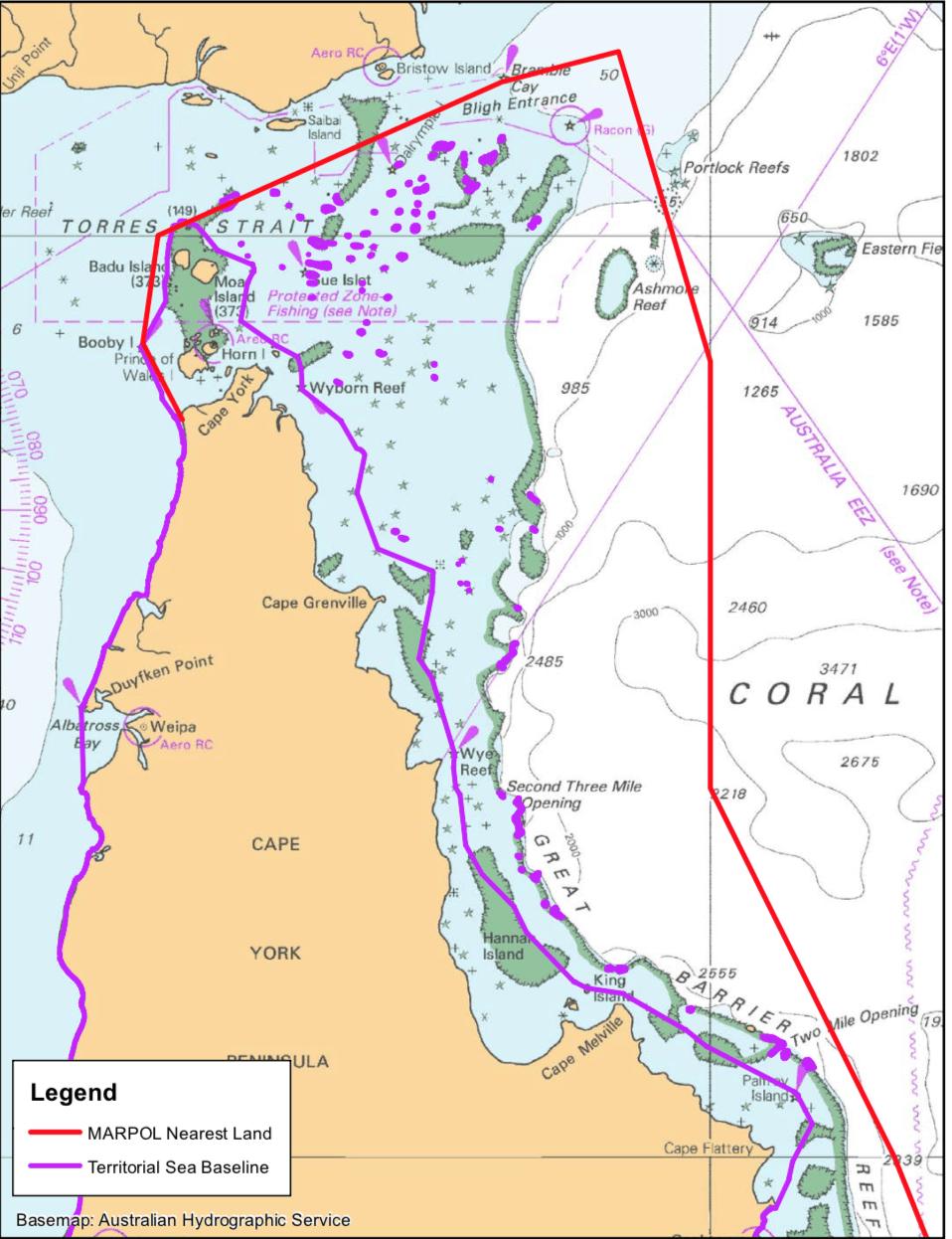 mevzuatlar - Avustralya karasuları - Nearest Land ve Marpol Kuralı İlişkisi