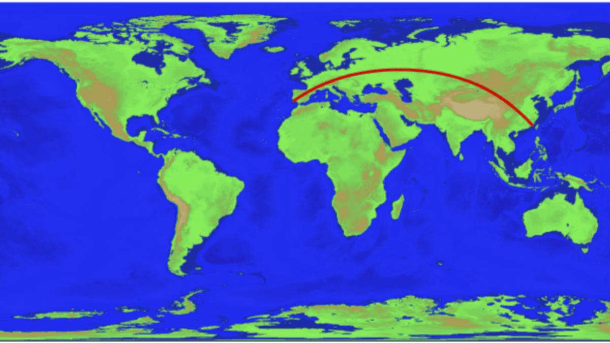 seyir - Havacılık Büyük Daire Seyri - Dünya'nın En Uzun Büyük Daire Seyri