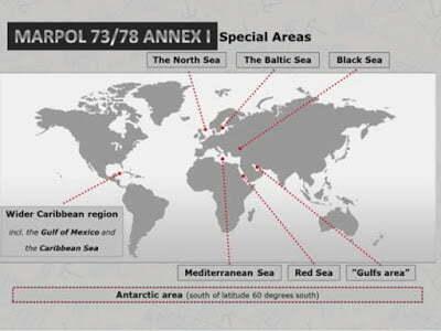mevzuatlar - Marpol Özel Alanlar - Marpol EK-1 Özel Alanlar